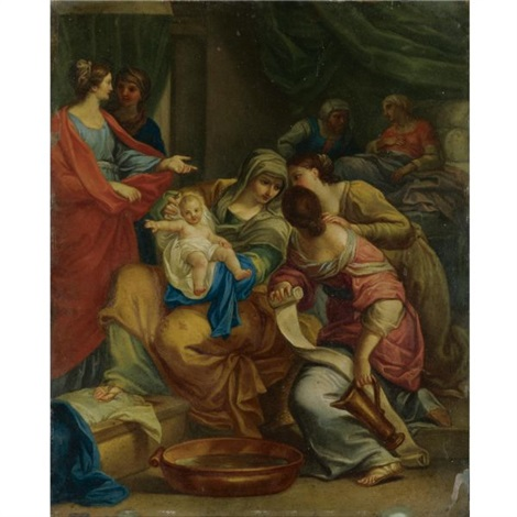 the birth of st john the baptist by giovanni francesco romanelli
