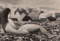 desnudo en un paisaje by clarel neme
