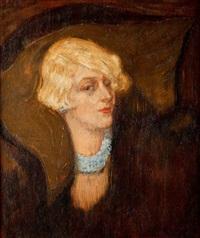 portret kobiety by kasimir dunin markiewicz