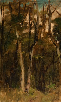 the forest by jacob henricus maris