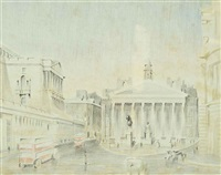 the royal exchange, london by paul nash