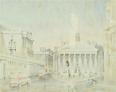 the royal exchange london by paul nash