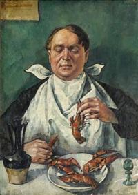 jedzący raki (portret karola szustra) by roman kramsztyk