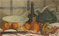 nature morte aux oranges by marcel bach