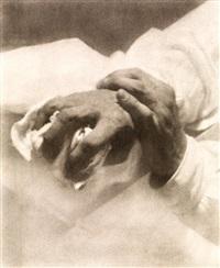 étude de main et de vêtement (study) by heinrich kühn