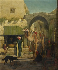 a street in jerusalem by william j. (webbe) webb