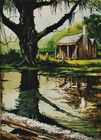 bayou cabin by rolland harve golden