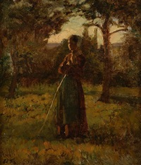 a norman peasant girl by edouard frere