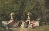 the garden party by ferdinand heilbuth