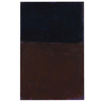 black, red-brown on violet by mark rothko