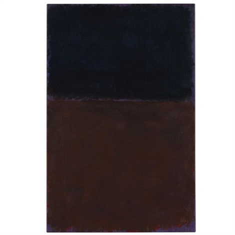 black red brown on violet by mark rothko