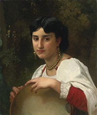 italienne au tambourin by william adolphe bouguereau