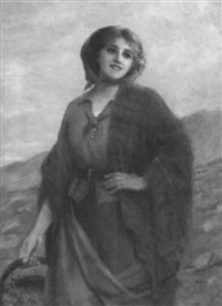 portrait of a young peasant girl by sydney percy kendrick