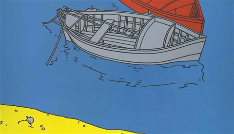 boats at brindisi by patrick caulfield
