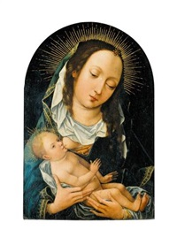 the virgin and child by master of the magdalen legend