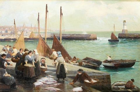 granton harbour near edinburgh by alexander young