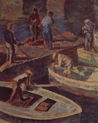 les pêcheurs, port d'erbalouga by josé fabri-canti