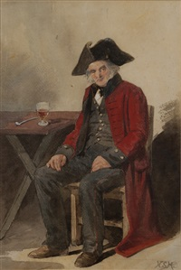 one of the old brigade by henry stacy marks
