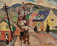sunday morning, baie st. paul by rody kenny courtice