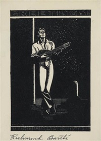 untitled (man playing a mandolin) by richmond barthe