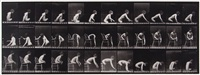 double amputation of thighs, boy, plate 538 (from animal locomotion) by eadweard muybridge