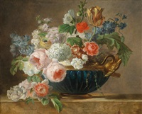 blumenstück in empireschale by pieter faes