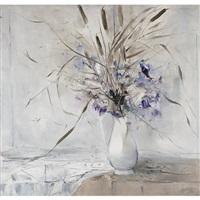 floral still life by moses martin reinblatt