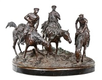 three don cossacks by evgeni evgen'evich lansere