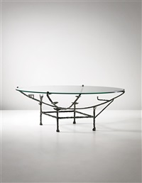 carcasse low table, petit modèle à la chauve-souris by diego giacometti