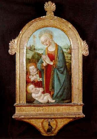 la vierge et lenfant avec saint jean baptiste by domenico ghirlandaio