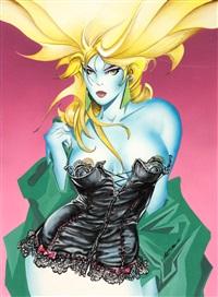 femme au corset by alfonso azpiri