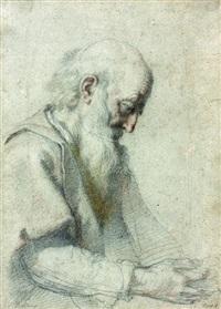 portrait d'homme barbu de profil droit by cristofano allori