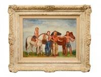 boys with horses by bernard karfiol