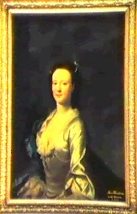 portrait of anne newnham, later lady ryder, half length,  in a white dress trimmed with lace and pearls by james cranke