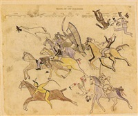 a battle between native americans and soldiers by american school-indian (19)
