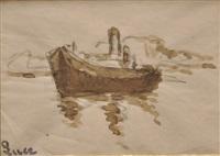 barque près des côtes by maximilien luce