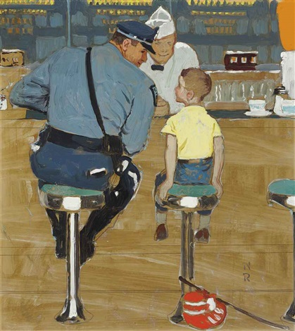 study for the runaway by norman rockwell
