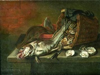 nature morte aux poissons by willem ormea