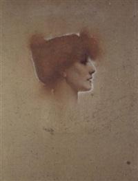 portrait de sarah bernhardt by walter e. spindler
