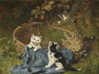 kittens at play by julius adam iii
