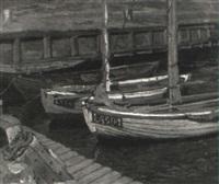 fiskebåtar i hamn by einar bager