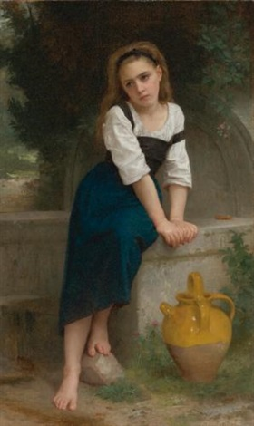 orpheline à la fontaine by william adolphe bouguereau