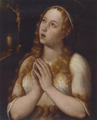 the penitent magdalene by luca mombello
