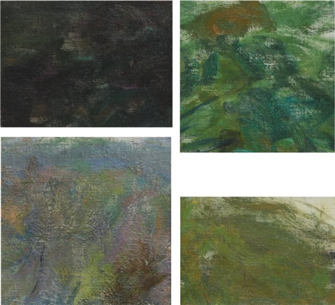 reflections four fragments of nymphéas 4 works by claude monet