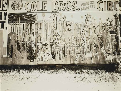 cole brothers circus poster by walker evans