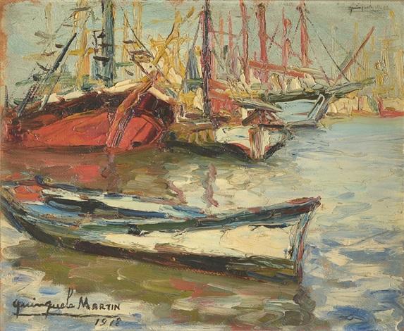 barcas pesqueras by benito quinquela martín
