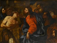 christ healing the blind by giuseppe antonio pianca