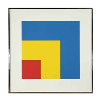 red yellow blue (+ black green; 2 works) by ellsworth kelly