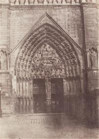 notre dame de paris, view of the main entrance, ca.1853 by charles nègre