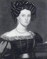 portrait of a woman in elegant dress by john sherburne blunt